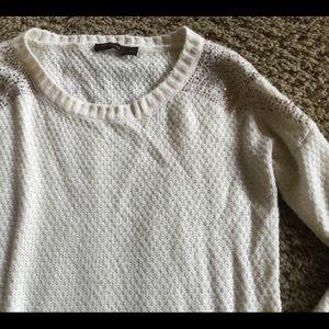 The limited cream sweater size medium embellished